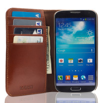 The Scholar Samsung Galaxy S4 Book Wallet - Brown Inside