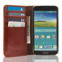 The Scholar Samsung Galaxy S5 Book Wallet - Brown Inside