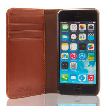 The Scholar iPhone 5-5s Book Wallet - Brown Inside 1