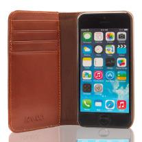 The Scholar iPhone 5-5s Book Wallet - Brown Inside 1
