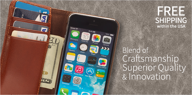 Authentic Italian leather cell phone cases