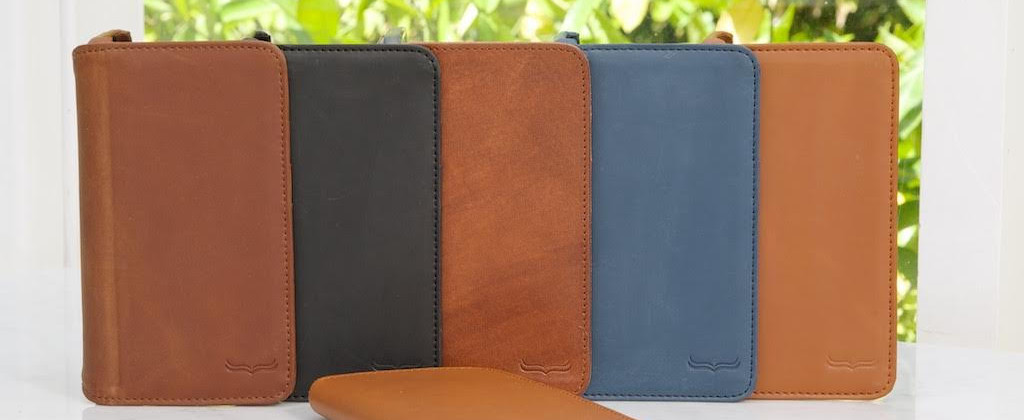 Different Color Leather Wallet Phone Cases